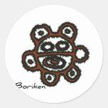 Solenoide Boriken de Taino Pegatina Redonda