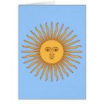 Solenoide de Mayo de la Argentina Tarjeta De Felicitación