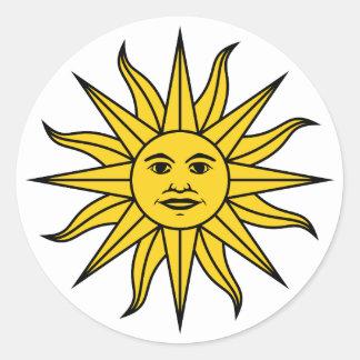 Solenoide de Mayo de Uruguay Pegatina Redonda