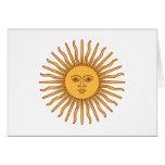 Solenoide de Mayo Sun de mayo - el oro Sun hace fr Tarjeta Pequeña