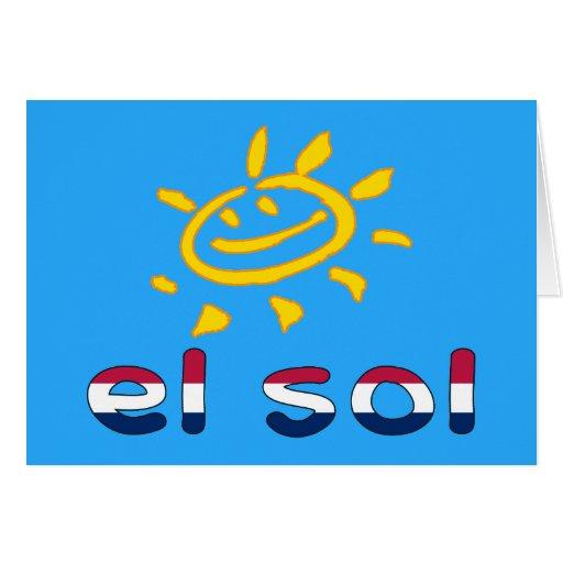 Solenoide del EL en colores de la bandera american Felicitaciones