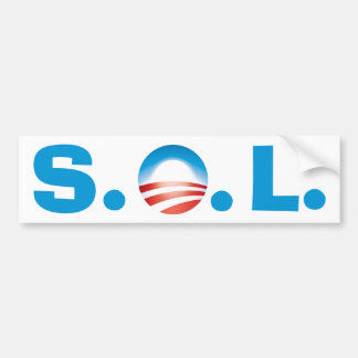 Solenoide Obama - fiesta del té que va a ganar Etiqueta De Parachoque
