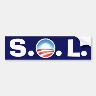 Solenoide Obama - fiesta del té que va a ganar Pegatina Para Auto