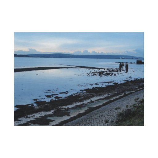 Solent from Pennington Marshes, Hampshire Stretched Canvas Prints