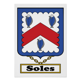 Soles Family Crest Posters