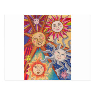 Soles felices postales