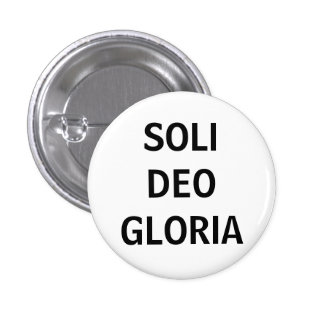 Soli Deo (Blk on white) Buttons