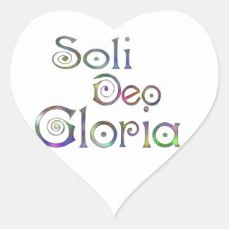 Soli Deo Gloria Heart Sticker
