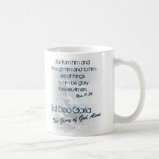 Soli Deo Gloria/la gloria de dios solamente Tazas De Café