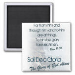Soli Deo Gloria/The Glory of God Alone 2 Inch Square Magnet
