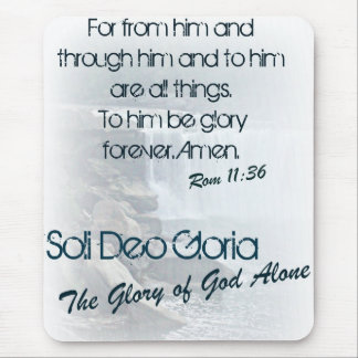 Soli Deo Gloria/The Glory of God Alone Mouse Pad