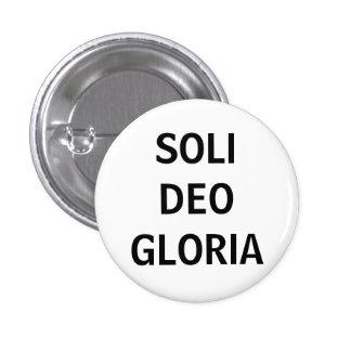 Soli Deo (negro en blanco) Pin Redondo De 1 Pulgada