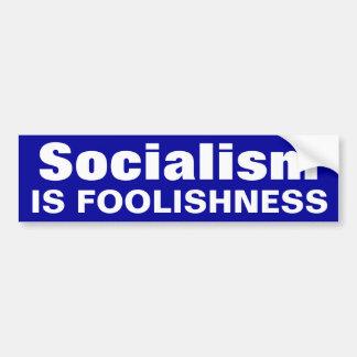 Solialism es tontería pegatina para auto