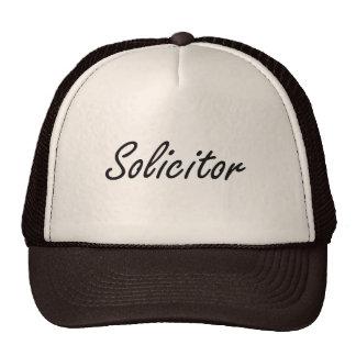 Solicitor Artistic Job Design Trucker Hat