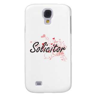 Solicitor Artistic Job Design with Hearts Galaxy S4 Case