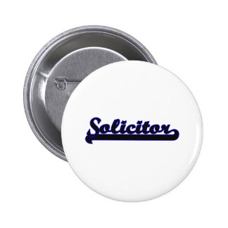 Solicitor Classic Job Design 2 Inch Round Button