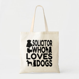 Solicitor Who Loves Dogs Tote Bag