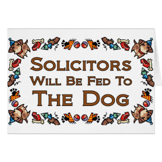 Solicitors Will Be Fed to the Dog Card
