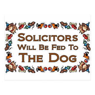 Solicitors Will Be Fed to the Dog Postcard