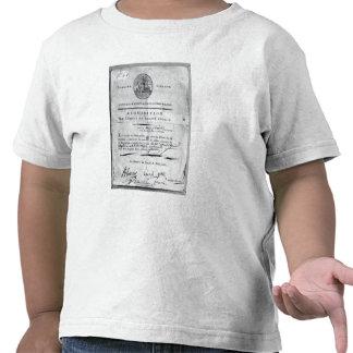 Solicitud del comité del público camiseta