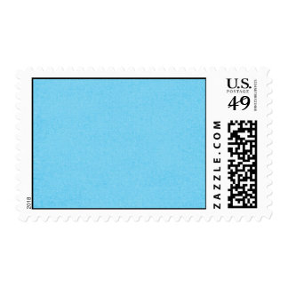 SOLID07 COTTONCANDY BLUE BRIGHT HAPPY SUMMER SKY C POSTAGE STAMP
