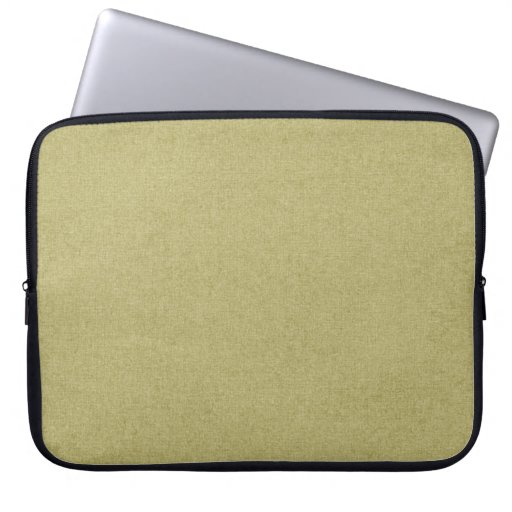 SOLID08 SOLID TAN GREENISH NEUTRAL COLOR  TEMPLATE LAPTOP COMPUTER SLEEVE