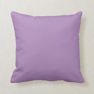 Solid African Violet Purple Throw Pillows at Zazzle