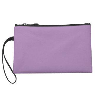Solid African Violet Purple Wristlet Wallet