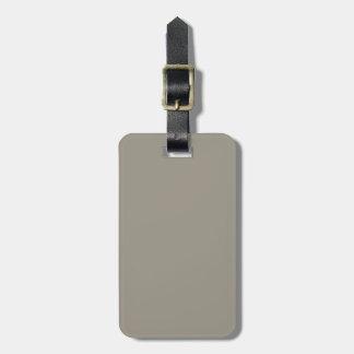 Solid Aluminum Silver Gray Bag Tag