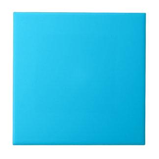 Solid Aqua Blue Small Square Tile