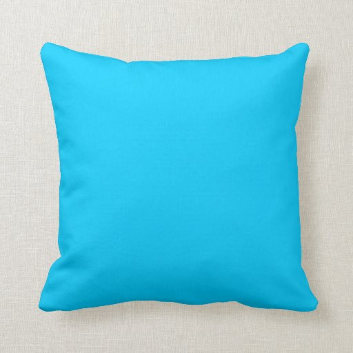 Solid Blue Throw Pillow : Solid Aqua Blue Throw Pillows Zazzle