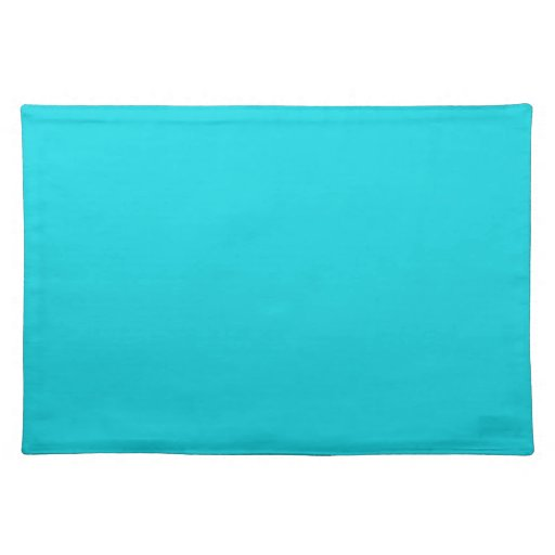 Solid Aqua Table Mat Placemat