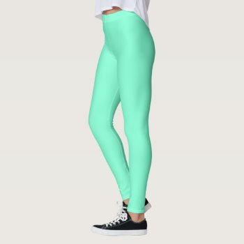 Solid Aquamarine Leggings