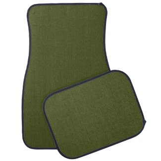 Solid Army Green Car Mats