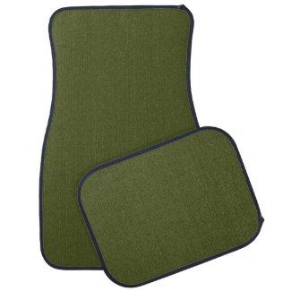 Solid Army Green Car Mats