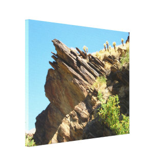 Solid as a Rock Stretched Canvas Print