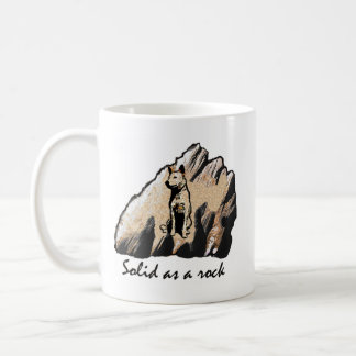 Solid as a rock! Right handed Mug