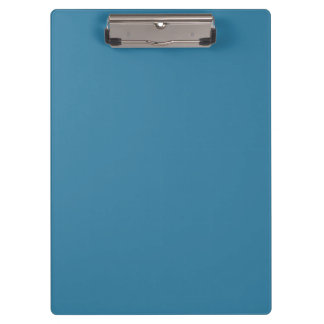 Solid Astral Blue Custom Clip Board Clipboard