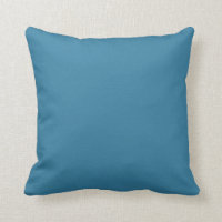 Solid Astral Blue Design Throw Pillow