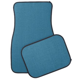 Solid Astral Blue Floor Mat