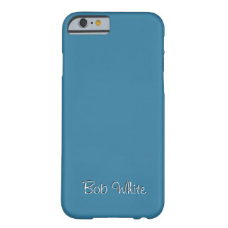 Solid Astral Blue Personalized Barely There iPhone 6 Case