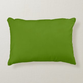 Solid Avocado Green Accent Pillow