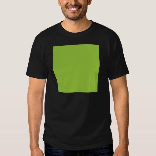 Solid Background 99CC33 Kiwi Green Shirt