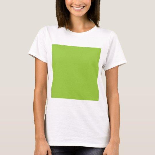 Solid Background 99CC33 Kiwi Green T-Shirt