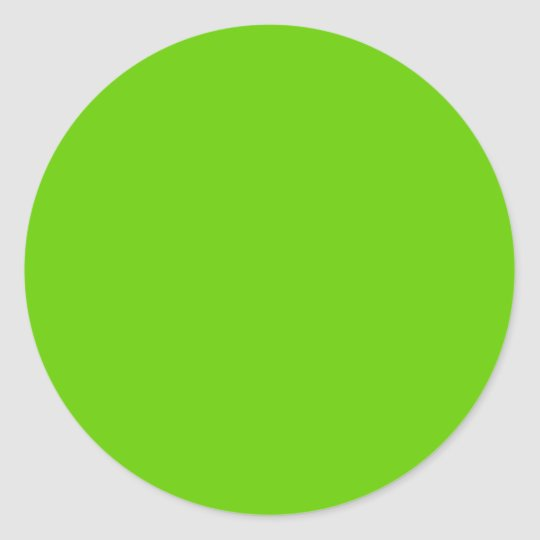 Solid Background Color Sticker, Avocado Green Classic Round Sticker