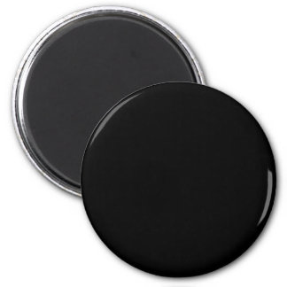Solid Black 2 Inch Round Magnet