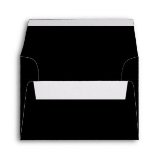 Solid Black A2 Blank Envelopes