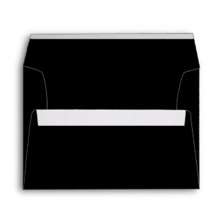 Solid Black A7 5x7 Blank Envelopes