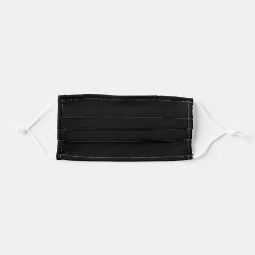 Solid Black Adult Cloth Face Mask