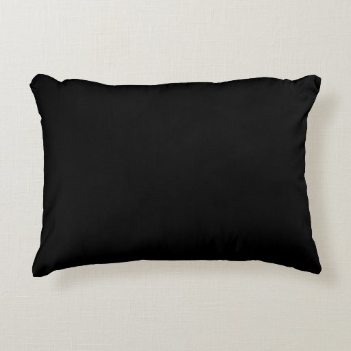 Solid Black and White Accent Pillow